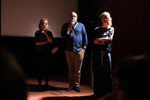 Polish Days - direcotr Anna Jadowska and producer Roman Jarosz and Iza Igel pitching WILD ROSES fot.K.Szwarc
